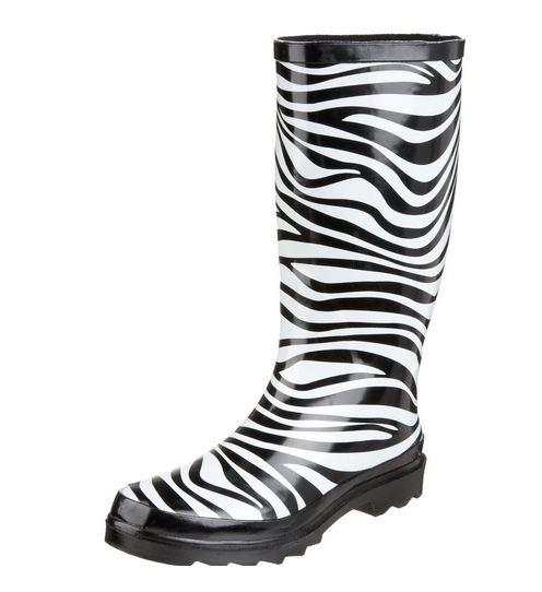 Zebra Print Rain Boots And Umbrella Great Gift Item 20