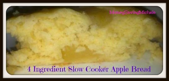 4 ingredientslow cooker apple bread