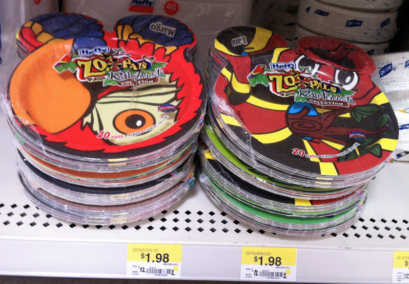 New Hefty Zoo Pals Plate Coupon And Walmart Matchup Money Aving