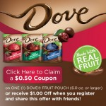 DOVE® Whole Fruit Snacks Coupon!