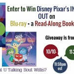 Disney Giveaway Pixar's Inside Out Blu-Ray & Book US only ends 11/2