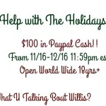 $100 Paypal Cash Giveaway Ends 12/16!